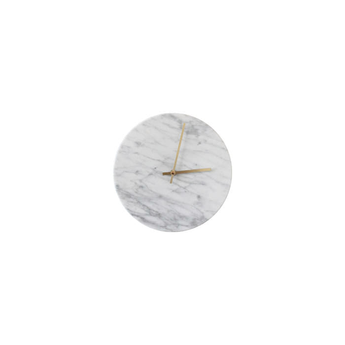 Marble Clock - White